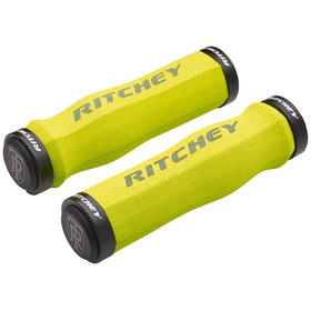 Ritchey WCS Ergo True Grip Bike Grips Lock-On yellow